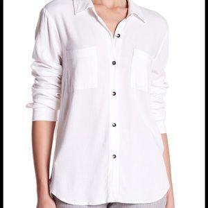 SPLENDID White Long Sleeve Button Up Shirt S